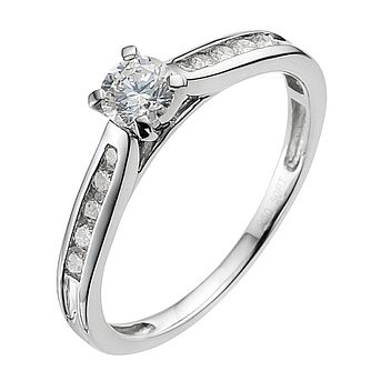 Platinum 0.50ct diamond solitaire ring - Product number 9340831