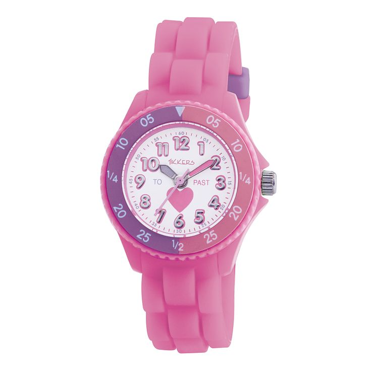Tikkers Teach Pink Silicone Strap Watch - Product number 9343911