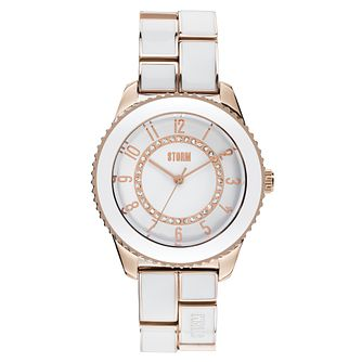 Storm Zarina Rose Gold & White Ladies' Watch - Product number 9350195