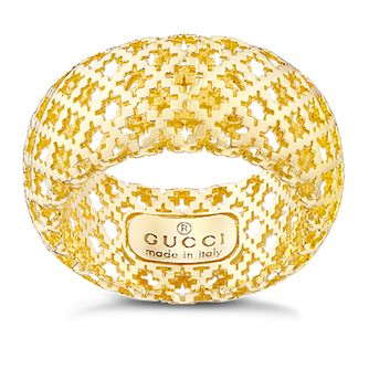 Gucci Diamantissima 18ct yellow gold diamond ring - size M - Product number 9366970
