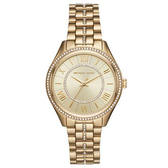 Michael Kors Lauryn Ladies' Yellow Gold Tone Bracelet Watch - Product number 9384618