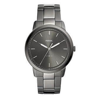Fossil Minimalist Men's Grey Bracelet Watch - Product number 9390472