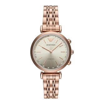 Emporio Armani Ladies' Rose Gold Plated Bracelet Watch - Product number 9390685