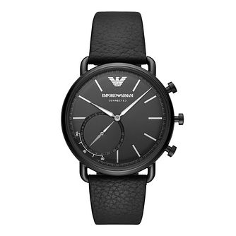 Emporio Armani Gen 4 Men's Aviator Black Strap Smartwatch - Product number 9390758