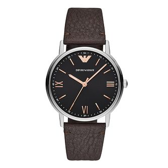 Emporio Armani Men's Kappa Silver Strap Watch - Product number 9391134