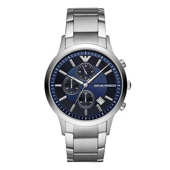 Emporio Armani Stainless Steel Blue Bracelet Watch - Product number 9391193