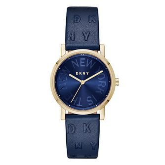 DKNY Soho Ladies' Yellow Gold Plated Strap Watch - Product number 9391517