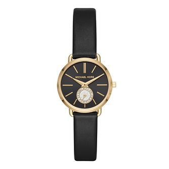 Michael Kors Portia Ladies' Yellow Gold Plated Strap Watch - Product number 9391592