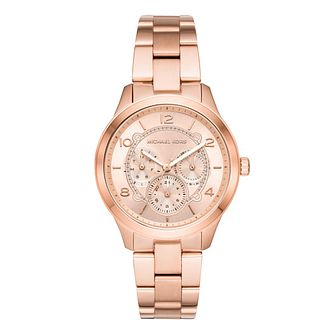Michael Kors Rose Gold Plated Runway Bracelet Watch - Product number 9391908