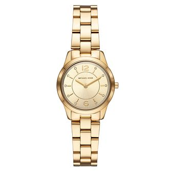 Michael Kors Runway Ladies' Gold Plated Bracelet Watch - Product number 9391924