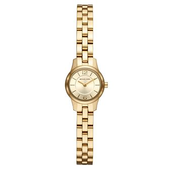 Michael Kors Ladies' Yellow Gold Plated Runway Watch - Product number 9391959