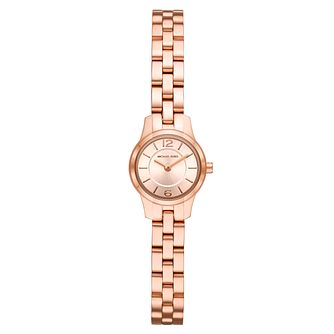 Michael Kors Runway Ladies' Rose Gold Plated Bracelet Watch - Product number 9392688