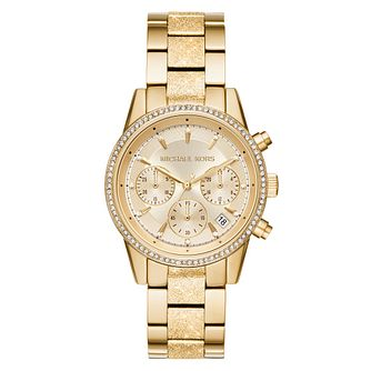 Michael Kors Ritz Ladies' Yellow Gold Plated Bracelet Watch - Product number 9392769