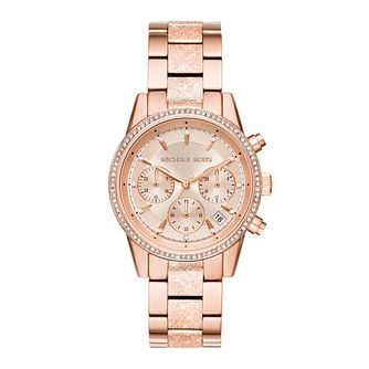 Michael Kors Ritz Ladies' Stone Set Rose Bracelet Watch - Product number 9392858