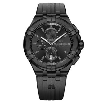 Maurice Lacroix Aikon Men's Black Ion Plated Strap Watch - Product number 9394354
