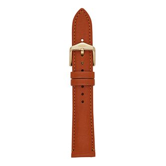 Fossil Ladies' 18mm Brown Leather Watch Strap - Product number 9394850