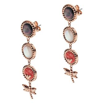 Emporio Armani Rose Gold Plated Caged Dragonfly Earrings - Product number 9396659