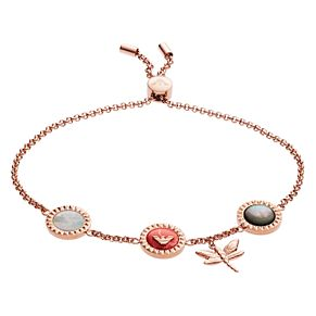 Emporio Armani Rose Gold Plated Caged Dragonfly Bracelet - Product number 9397833
