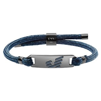 Emporio Armani Men's Graphic Blue Bracelet - Product number 9398031