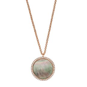 Fossil Classic Ladies' Rose Gold Plated Necklace - Product number 9399305