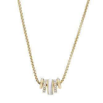 Fossil Classic Ladies' Yellow Gold Plated Enamel Necklace - Product number 9399321