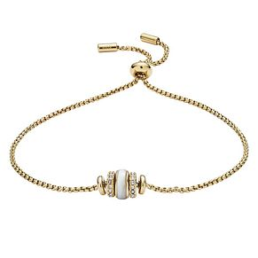 Fossil Classic Ladies' Yellow Gold Plated Enamel Bracelet - Product number 9399402