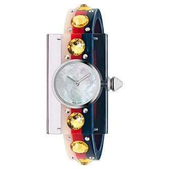 Gucci Fashion Vintage Ladies' Plexiglass Rubber Strap Watch - Product number 9399925