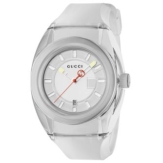 Gucci Sync Men's White Rubber Strap Watch - Product number 9400109