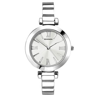 Sekonda Ladies' Silver Dial Silver Tone Bracelet Watch - Product number 9407235