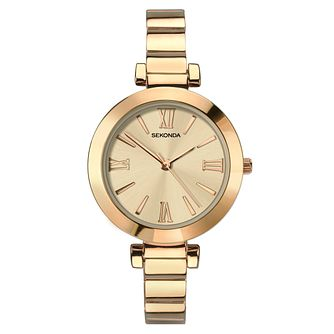 Sekonda Ladies' Rose Gold Tone Bracelet Watch - Product number 9407308