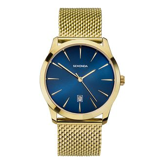 Sekonda Men's Gold Tone Mesh Bracelet Watch - Product number 9407537