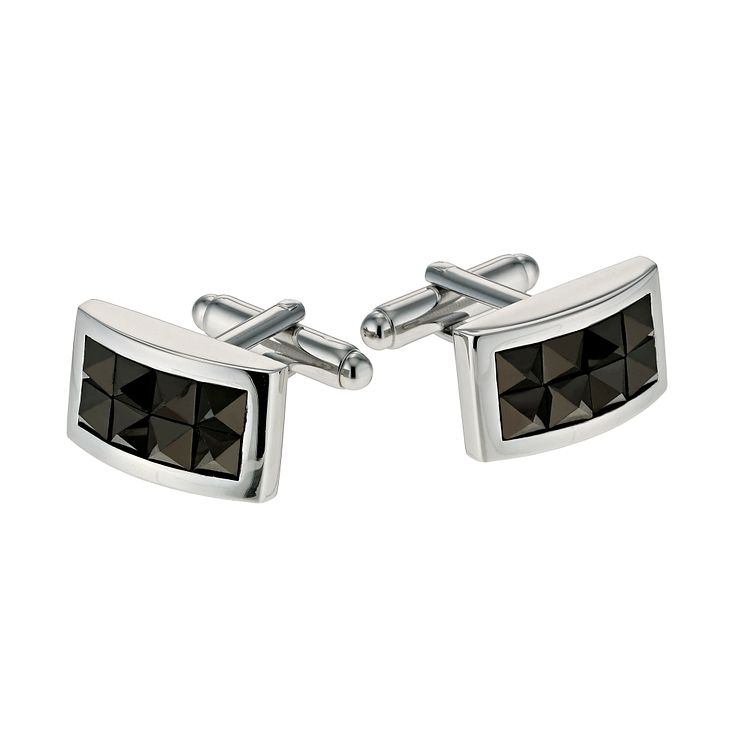 Simon Carter men's black crystal cufflinks - Product number 9407804