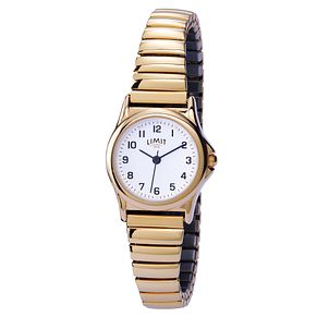 Limit Ladies' Gold Expanding Strap Watch - Product number 9408576
