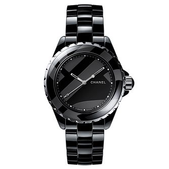 Chanel J12 Ladies' Black Ceramic Bracelet Watch - Product number 9409491