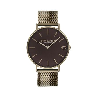 Coach Charles Men's Brown Mesh Bracelet Watch - Product number 9410252