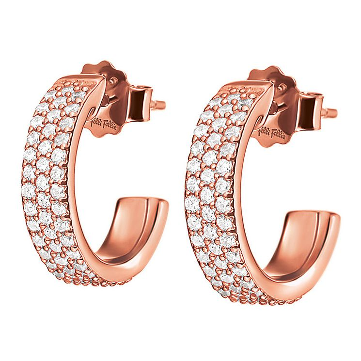 Folli Follie Essentials Ladies' Cubic Zirconia Hoop Earrings - Product number 9415904