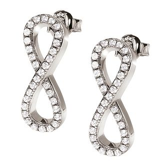 Folli Follie Infinity Ladies' Cubic Zirconia Stud Earrings - Product number 9415939
