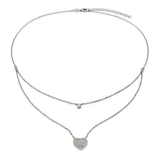 Folli Follie Fashionably Silver Ladies Double Chain Necklace - Product number 9416641