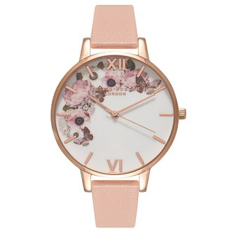 Olivia Burton Signature Ladies' Rose Gold Plated Pink Watch - Product number 9418075