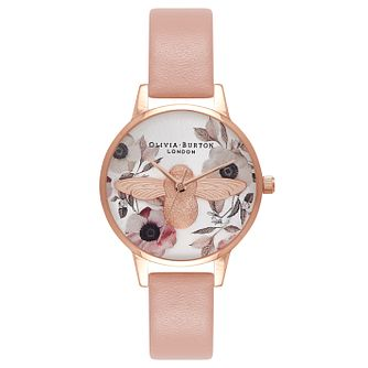 Olivia Burton 3D Bee Ladies' Rose Gold Plated Watch - Product number 9418164