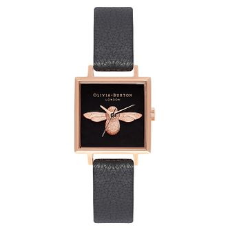 Olivia Burton 3D Bee Ladies' Rose Gold Plated Square Watch - Product number 9418202