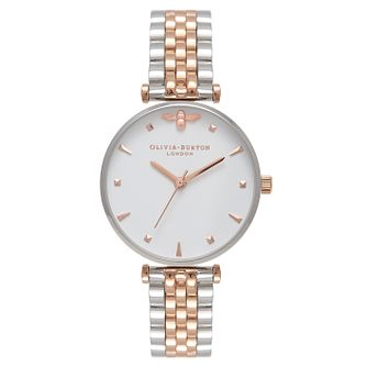 Olivia Burton Queen Bee Ladies' Two Colour Bracelet Watch - Product number 9418288