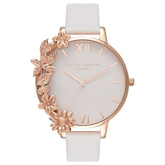 Olivia Burton Case Cuff Rose Gold Metal Plated Strap Watch - Product number 9418369