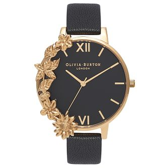 Olivia Burton Case Cuff Yellow Gold Metal Plated Strap Watch - Product number 9418377