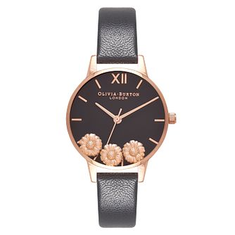 Olivia Burton Dancing Daisy Rose Gold Plated Metal Watch - Product number 9418407