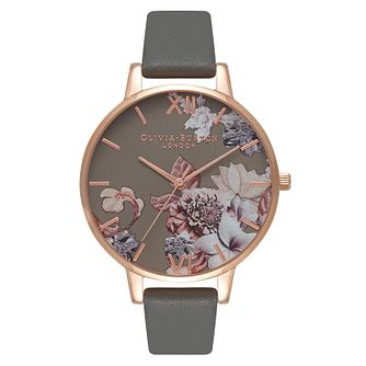 Olivia Burton Marble Florals Ladies' Rose Gold Plated Watch - Product number 9418415