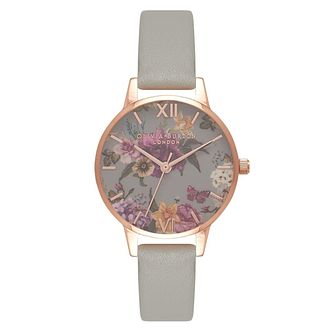 Olivia Burton Dark Bouquet Rose Gold Metal Plated Watch - Product number 9418474