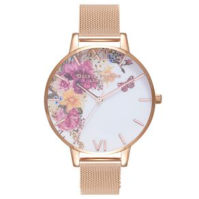 Olivia Burton Enchanted Garden Rose Gold Metal Plated Watch - Product number 9418482