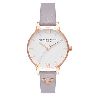 Olivia Burton Embellished Strap Rose Gold Metal Plated Watch - Product number 9419098