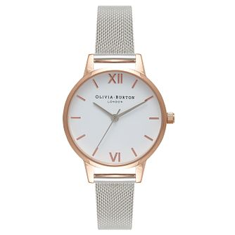 Olivia Burton White Dial Ladies' Rose Gold Plated Watch - Product number 9419136